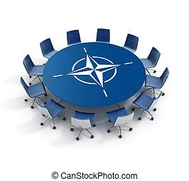 Nato meeting 3d concept