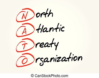 Nato - North Atlantic Treaty Organization, acronym,...