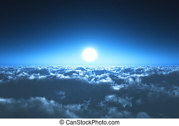 natt flykt, skyarna