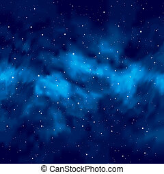 natt himmel, med, stjärnor