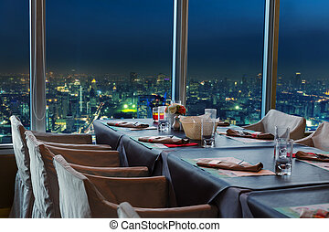 natt, restaurang, bangkok