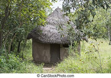 natur, afrikas, hütte, afrikanisch, ländlich, süden