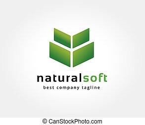 natur, brandmarken, abstrakt, logotype, vektor, design, schablone, logo, concept., ikone