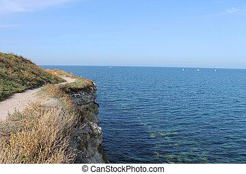 natur, hav, land, majestæt, klipper