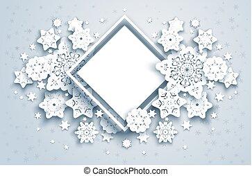 natur, jahreszeit, winter, rahmen