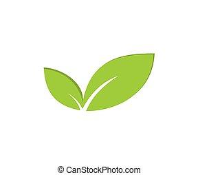 natur logo design template vector
