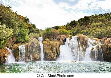 natur, park, sibenik, national, innerhalb, krka, -, krka, kroatien, ihr, am besten