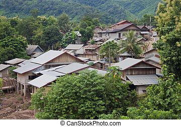 natur, ungefähr, nong, khiaw, dorf, in, laos