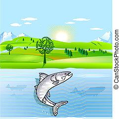 natura, conservazione, e, fish