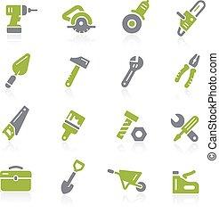 natura, ferramentas, icons.