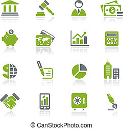 natura, finanza, affari, &, icone, /