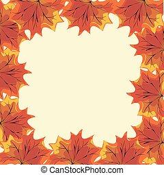 natura, foglie, autunno, acero, fondo, rosso