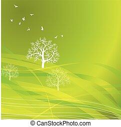 natura, fondo, eco, concetto