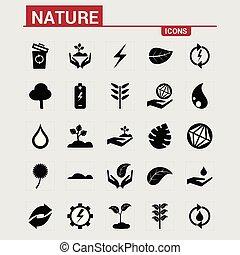 natura, icone, set