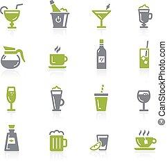 natura, icons., drycken