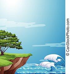 natura krajobraz, urwisko