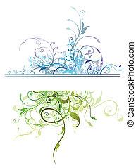 natura, kwiatowa ozdoba, elementy