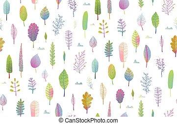 natura, modello, foglie, seamless, delicato, fondo