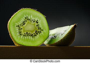 natura morta, con, frutta kiwi