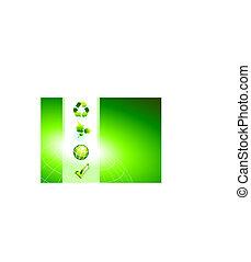 natura, sfondo verde, icone