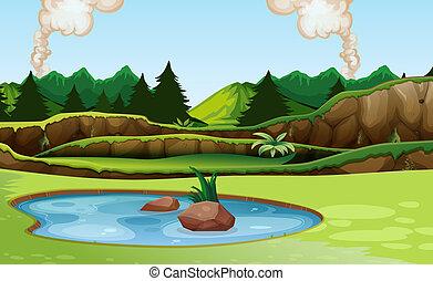 natura, zielony krajobraz, prospekt