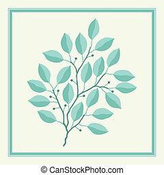 natural, abstratos, fundo, com, ramos, de, leaves.