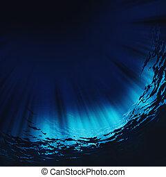 natural, abstratos, fundos, água, profundo
