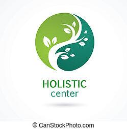 natural, alternativa, medicina herbaria, icono