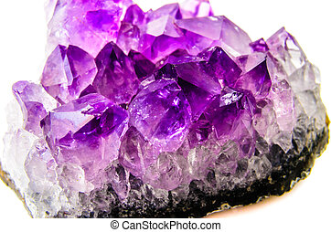 Natural amethyst. Photo Close-up