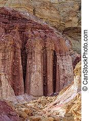 """Natural """"Amram pillars"""""""