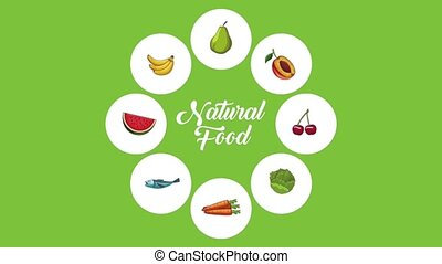 Natural and healthy food HD animation - Natural and healthy...