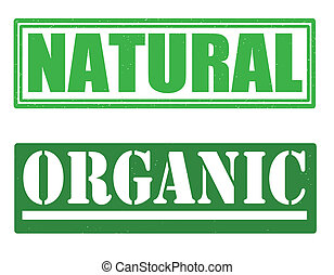 Natural and organic stamps