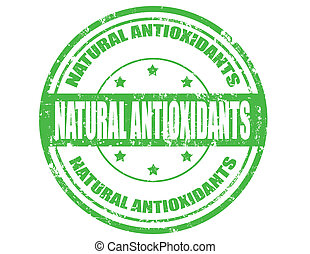 Natural Antioxidants- stamp - Grunge rubber stamp with text...