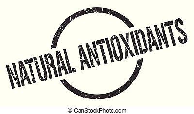 natural antioxidants black round stamp