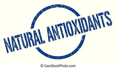 natural antioxidants blue round stamp
