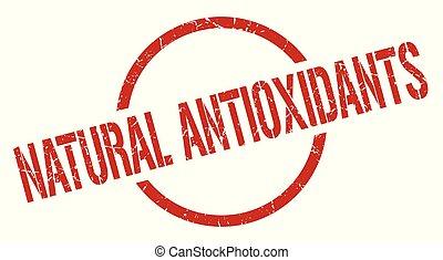 natural antioxidants red round stamp