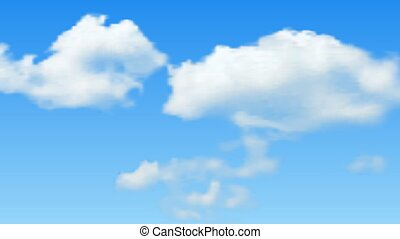 Natural background with cloud on blue sky