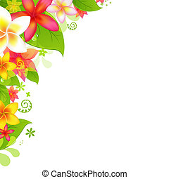 Natural Background With Flower, Isolated On White...