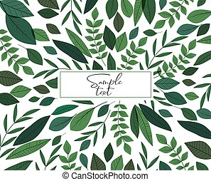 Natural background with green leaves