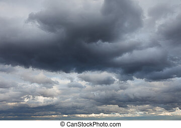 Natural backgrounds: stormy sky