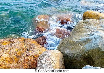 beach with stones