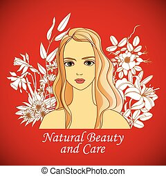 natural beauty and care - Natural beauty and care. young...