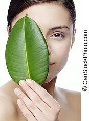 natural beauty face - fresh face with natural makeup, no...
