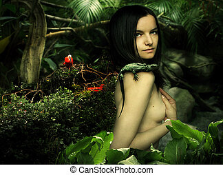 Natural beauty fantasy - Fantasy portrait of a beautiful...