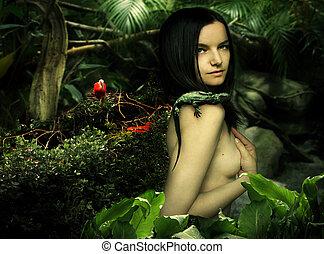 Natural beauty fantasy - Fantasy portrait of a beautiful...