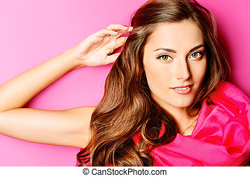 natural beauty - Beauty portrait of a positive young woman...
