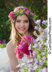 natural beauty summer young woman