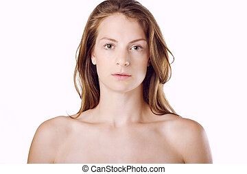 Natural Beauty Young Woman - Woman with natural beauty and...
