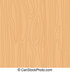 Natural beige wood background - Pine wood vector texture.