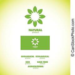 Natural bio product badge